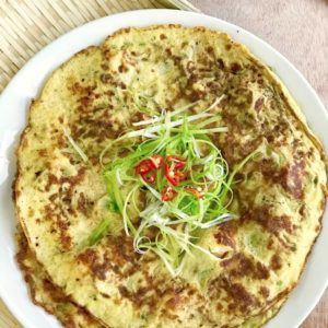 The Burning Kitchen   Loofah Prawn Omelette