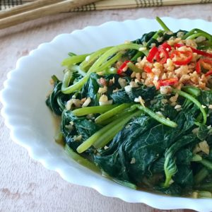 Ah Ma's Sweet Potato Leaves in Fermented Beancurd