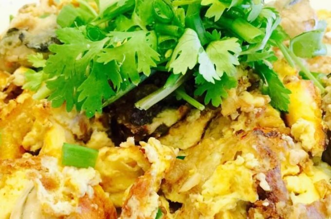 Fried Oyster Omelette (Or Luah) Recipe