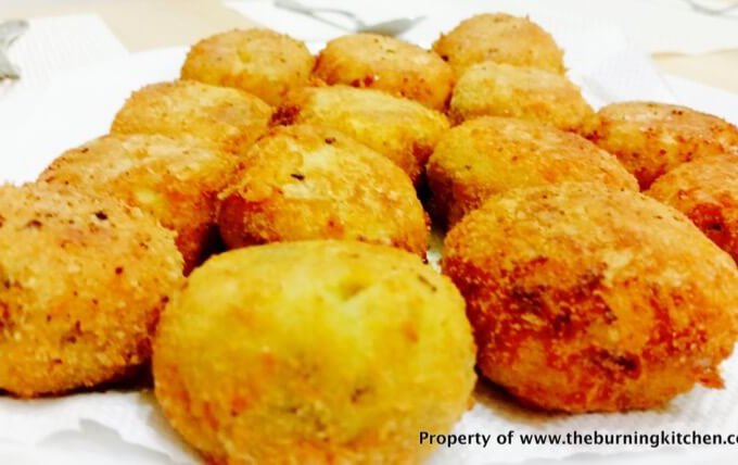 Indonesian-style Perkedel (Fried Potato Croquette with Fish)