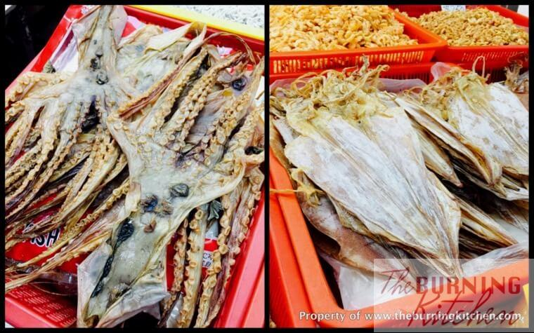 difference between dried octopus and dried squid