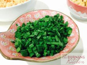 Bowl of cut chives