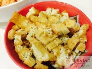 Bowl of cut tau pok