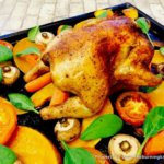 Crispy Roast Chicken with Drip-Tray Vegetables