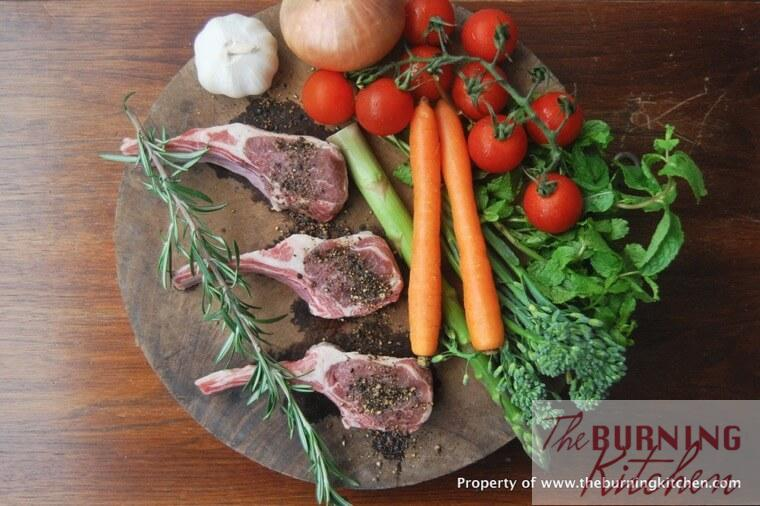 Ingredients of Rosemary lamb cutlets