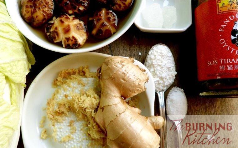 Ingredients from braised mushrooms