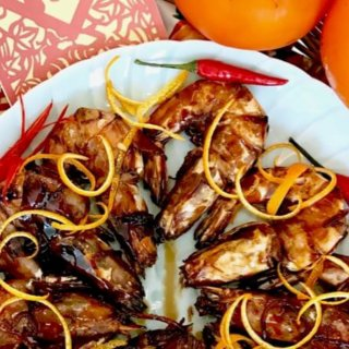 Cantonese Stir-fried Prawns in Orange Sauce (Har Lok) Recipe – Version 2