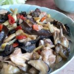 Chicken in Chinese Wine with Black Fungus and Golden Needle