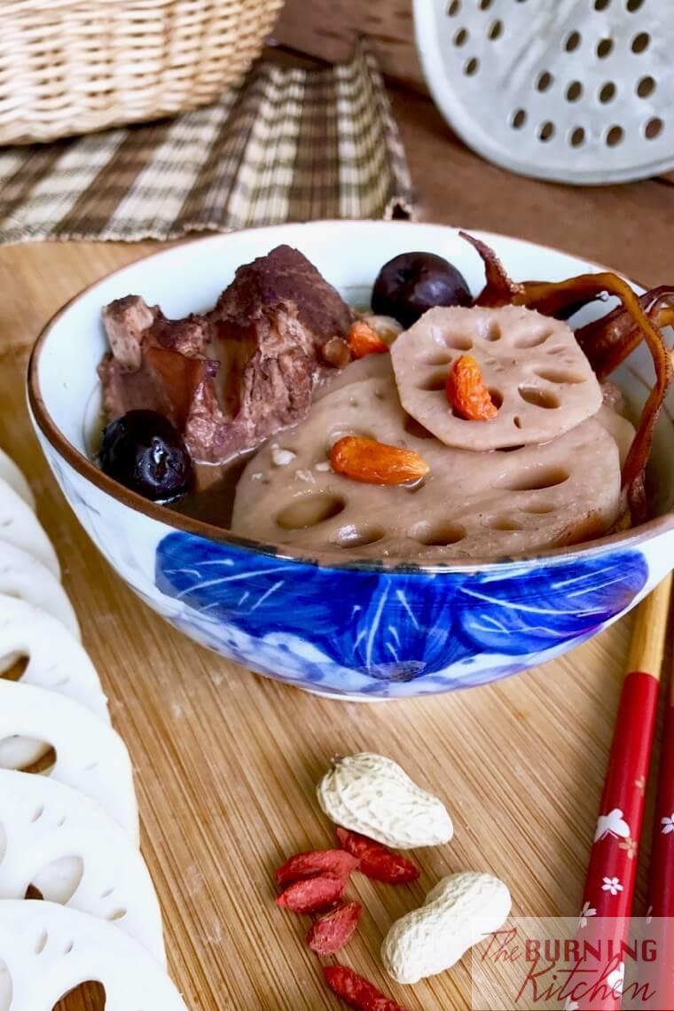 Lotus Root Soup in white bowl