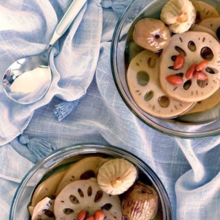 The Burning Kitchen | Lotus Root Sweet Soup with Figs