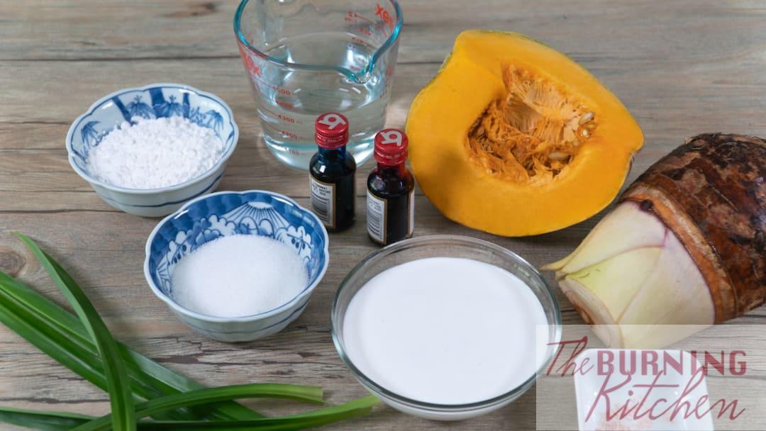 bubur cha cha ingredients