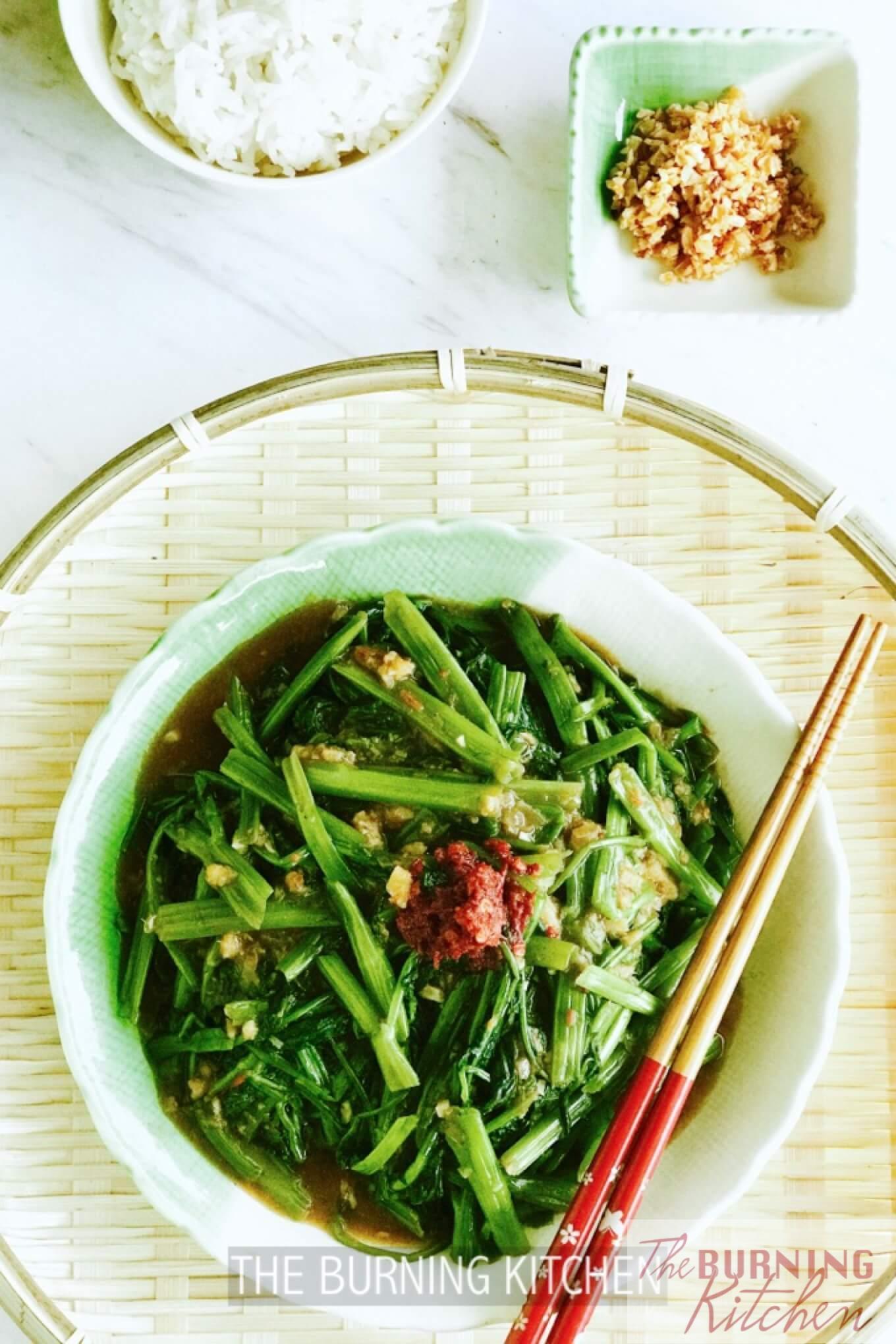 Spicy Water Spinach Sambal Kangkong 马来风光 The Burning Kitchen