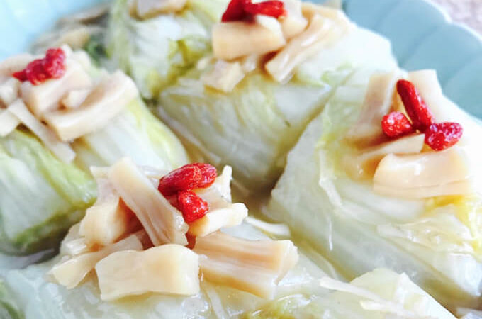 Braised Napa Cabbage (Wong Bok) with Dried Scallops