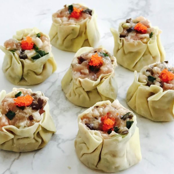 Shrimp and Pork Dumpling (Siew Mai): This all-time favourite Dim Sum dish is healthy, tasty and easy to make at home! Wrap our versatile meat mix stuffing recipe with wonton skin, and top with fresh shrimp roe and pop into the steamer for a quick snack!