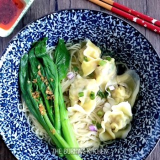 Wonton Noodle: Wonton-making can be a fun family activity that even young children (age 3 and up) will enjoy! Freeze up a batch for Wonton Noodle - they will come in real handy on those days when you need to whip up a fast, easy & healthy meal!