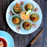 Crispy Chinese Money Bag Fritters: One of my childhood favourites, the distinctive money bag shape of these juicy golden meat dumpling fritters is deeply nostalgic of an era long past when Chinese people used to keep their money in little pouches like these!
