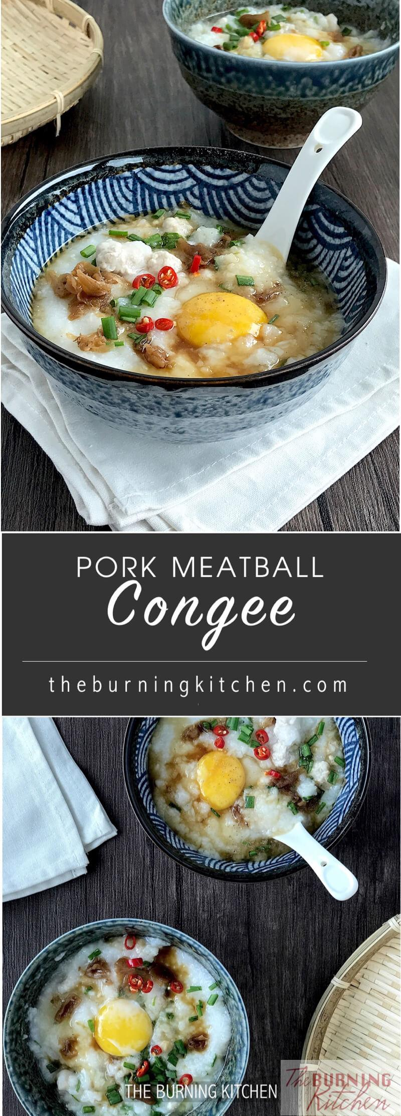 Don't you simply love the thick, creamy consistency of Pork Meatball Congee With Scallops served at top-notch Cantonese restaurants? Here's the recipe on how to make this sweet and flavourful congee at home, without the long hours typically needed!#porkcongee #notsickpeoplefood #good4esoul