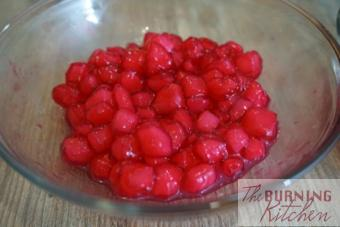 Single layered red water chestnuts