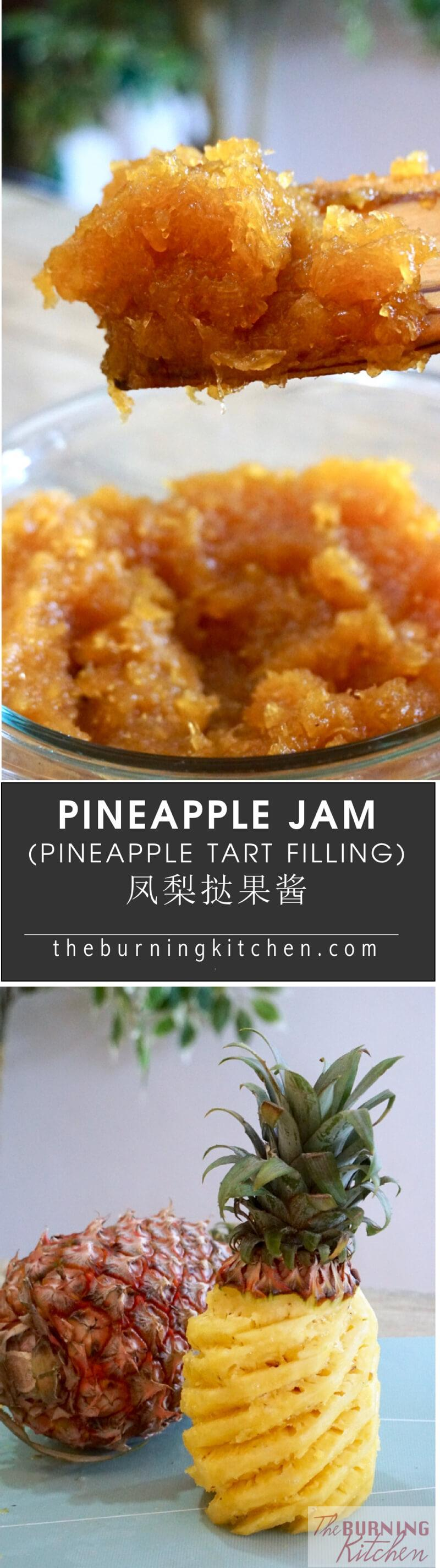Nothing beats homemadeSpiced Pineapple Jam (Pineapple Tart Filling)! If you don't like the jam in store- bought pineapple tarts, why not make your own where you can control your preferred texture and sweetness? See this recipe to find out more!