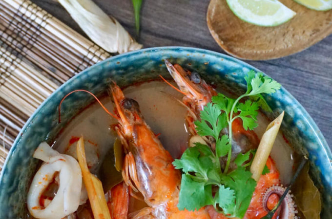 Seafood Tom Yum Soup (Tom Yum Talay)