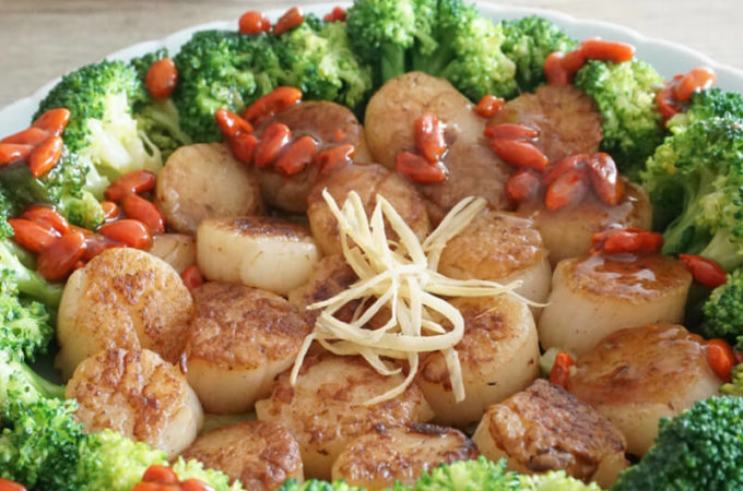 How to make Perfectly Seared Scallops with Broccoli