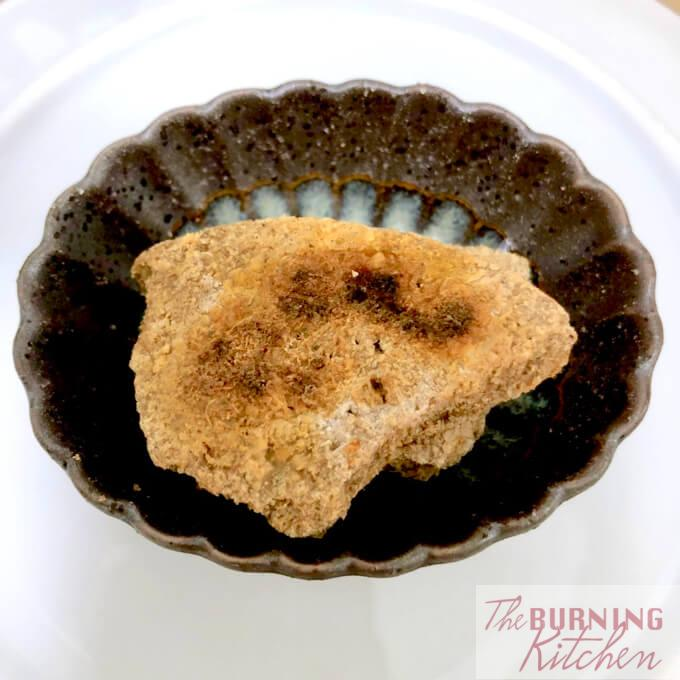 Toasted block of shrimp paste