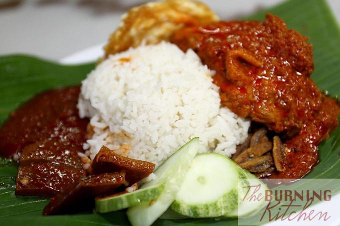 Plate of Nasi Lemak with Sambal