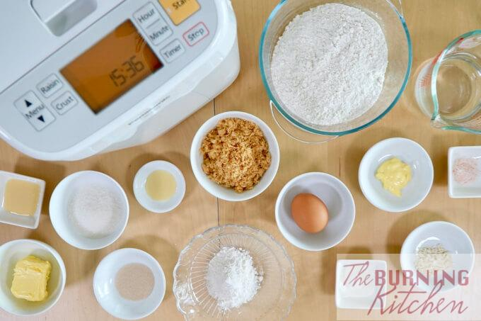 Ingredients for Pork Floss Buns