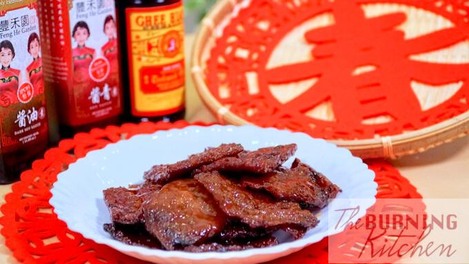 Home made bak kwa and Feng He Garden sauces