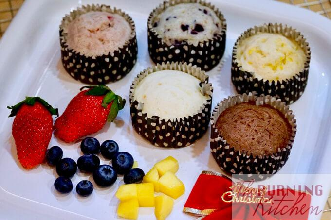 Cottony Soft Japanese Steamed Cakes (Mushi-Pan) in Assorted Flavours