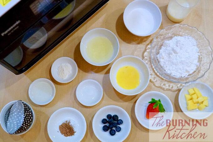 Japanese Steamed Cakes (Mushi-Pan) - Ingredients