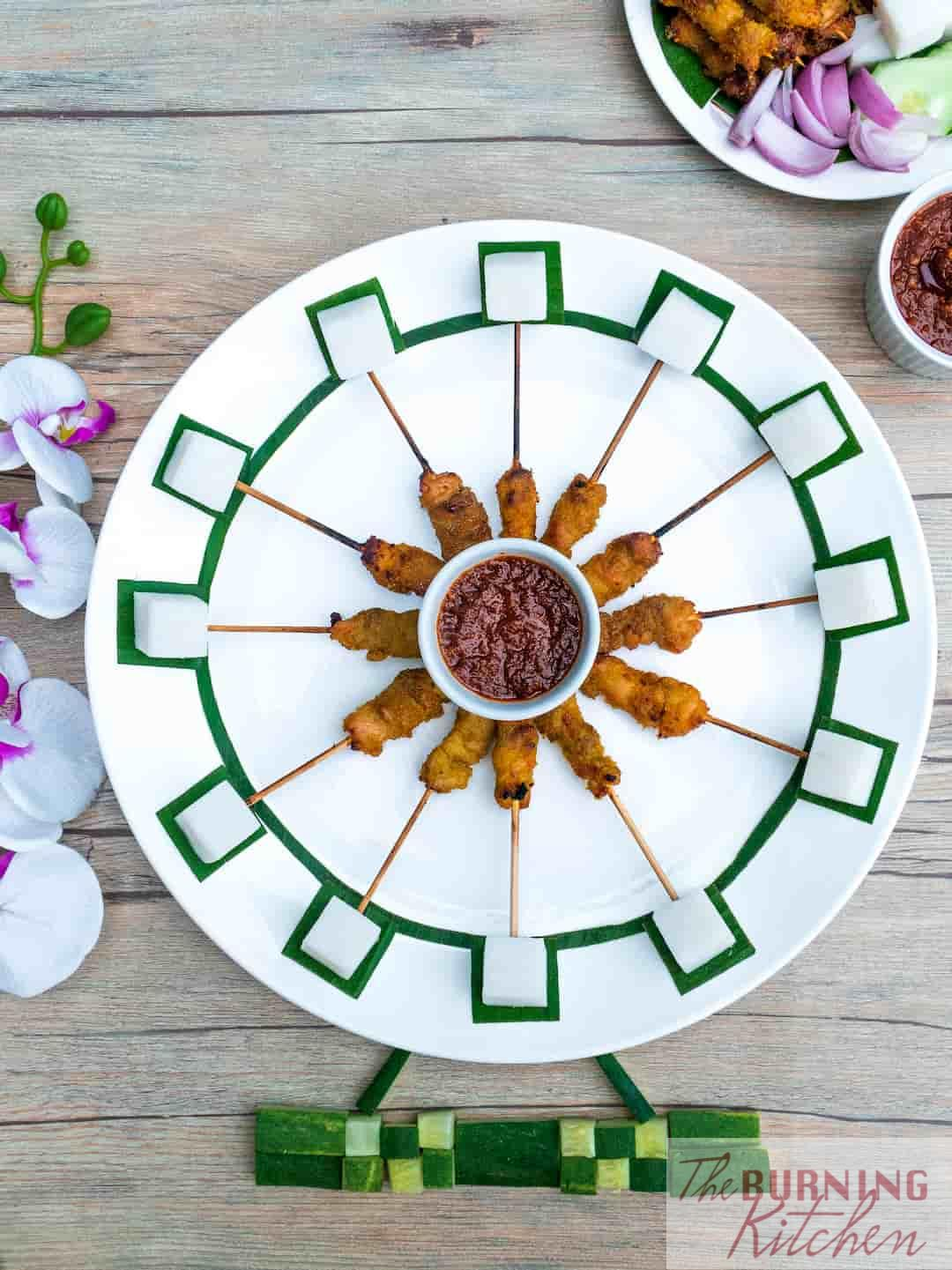Mini Chicken Satay (Inspired by the Singapore Flyer)