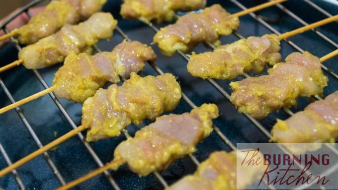Satay on Pre-oilled Grilling Rack