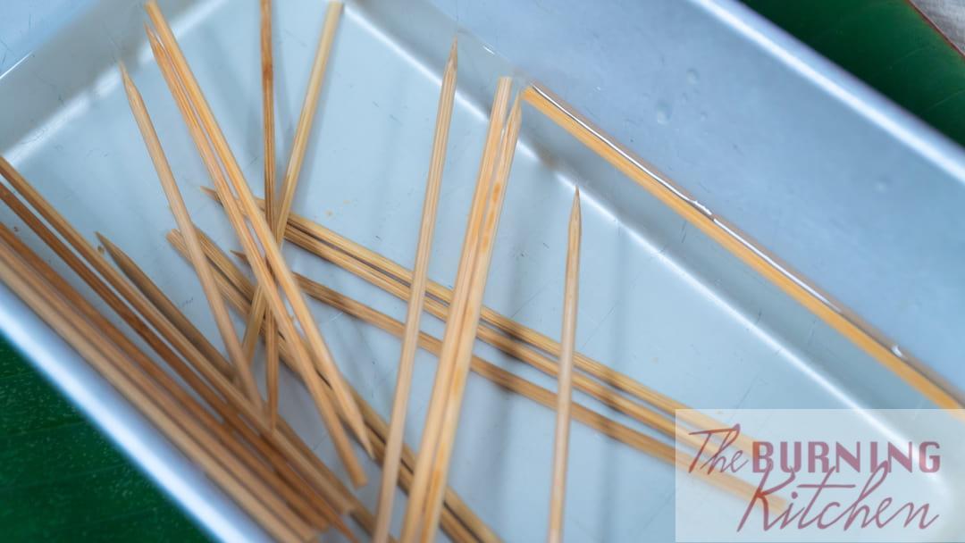 Soak Satay Sticks in Water