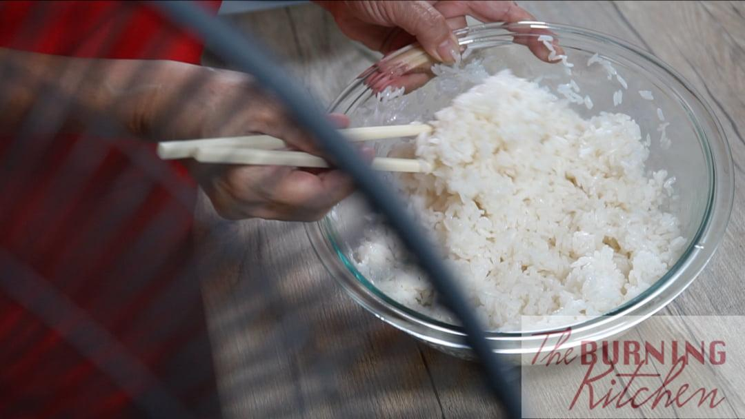 Cool the Rice in Front of the Fan