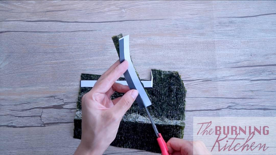 Cut the Seaweed according to the Template