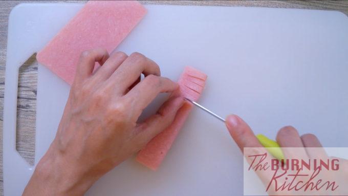 Ham Cut Decoratively