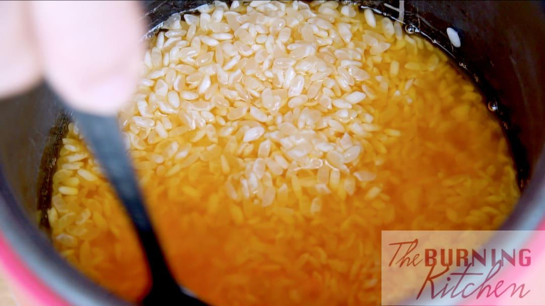 Orange Coloured Rice