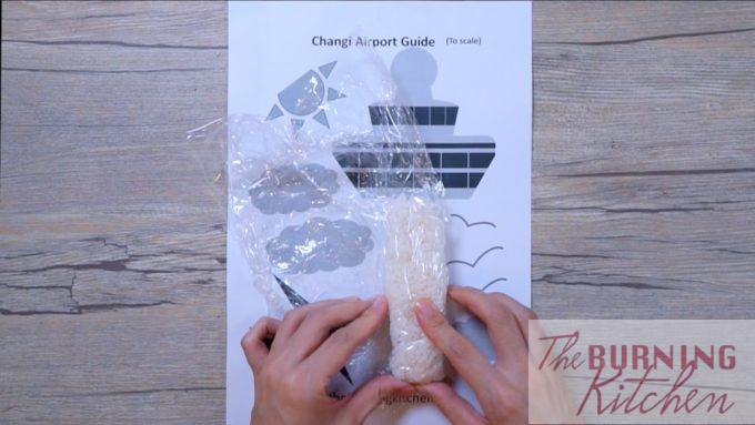 Shape the Rice using Cling Film