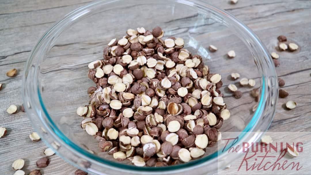 Lotus Seeds Halved